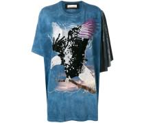 T-Shirt mit Adlerstickerei