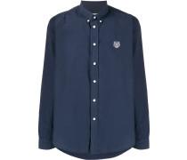 Button-down-Hemd mit Tiger