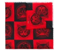Mystic Cat print shawl