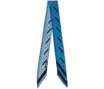 polka dot and stripe super skinny scarf