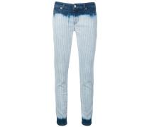 Skinny-Jeans mit Batikmuster
