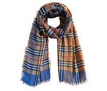 vintage check square scarf