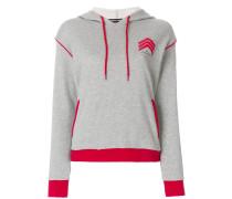 chevron hooded sweatshirt