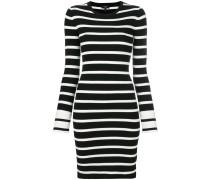 Gestreiftes Kleid mit schmalem Schnitt