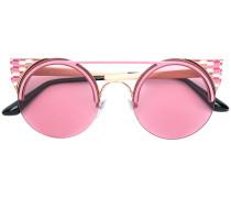 Emaillierte Cat-Eye-Sonnenbrille
