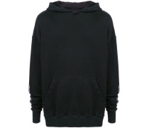 back logo print hoodie