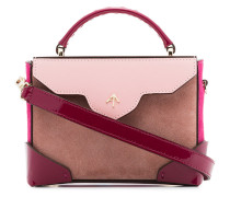 cameo rose and fuchsia pink combo leather shoulder bag