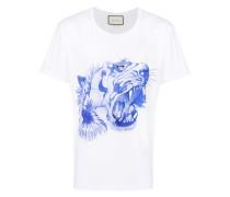 T-Shirt mit Tigerkopf-Print