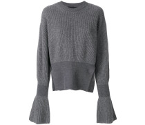 flared sleeve knit jumper