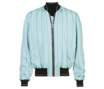 boxy striped bomber jacket
