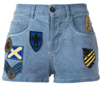 Jeans-Shorts mit Patches