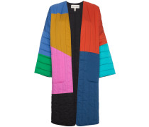 Multicoloured reversible temple coat