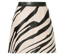 zebra print A-line skirt