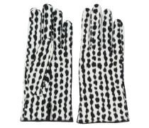Handschuhe mit abstraktem Muster