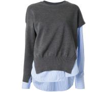 Pullover mit Hemdeinsatz