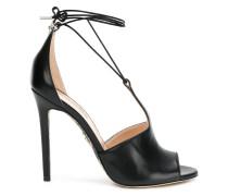 lace-up stiletto sandals