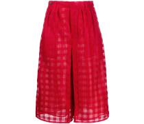 Shorts mit Sheer-Effekt