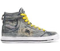 High-Top-Sneakers aus Jeansstoff