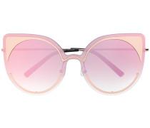 Oversized-Sonnenbrille mit Kontrastdetails