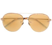 Verzierte Pilotenbrille