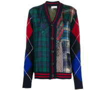 patchwork check cardigan