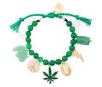Green Multi Charm Bracelet