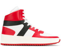 panelled high top sneakers