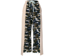 camouflage wide leg joggers
