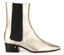 'Valdo' Stiefel im Metallic-Look