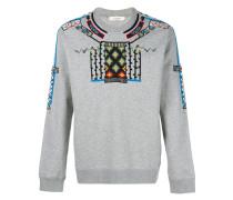 Sweatshirt mit geometrischen Stickereien
