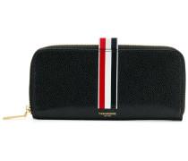 Vertical Intarsia Stripe Long Zip-around Wallet In Pebble Grain Leather