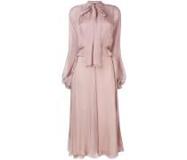 Langes Kleid mit Schleifenverschluss