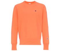 orange reverse weave sweatshirt