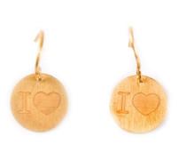 22kt 'I Love' Goldohrringe