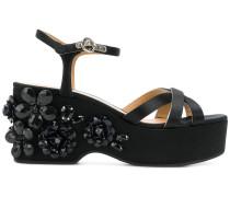 Callie embellished wedge sandals