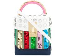 polka dot brogue detail handbag