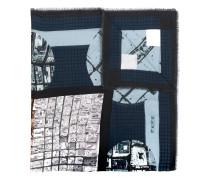 Schal mit Architektur-Print