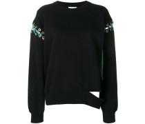 lace-up slit sweatshirt