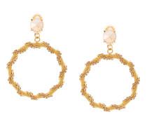 crystal chain hoop earrings