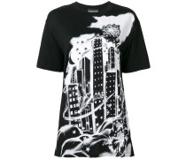 'Skyscraper' T-Shirt mit Print