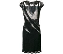 Kleid mit transparenten Einsätzen