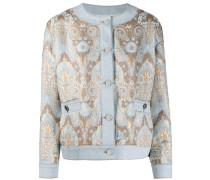 Jeansjacke mit Brokat-Design