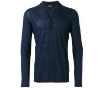 Henley-Pullover mit langen Ärmeln