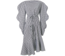 gingham pattern asymmetric dress