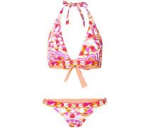 Bedruckter Neckholder-Bikini