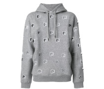 cut out logo hoodie