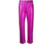 Bootcut-Jeans im Metallic-Look