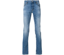 Gerade Stone-Wash-Jeans