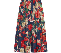 Spring bouquet silk pleated pant