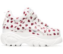 Flatform-Sneakers mit Herzmotiv